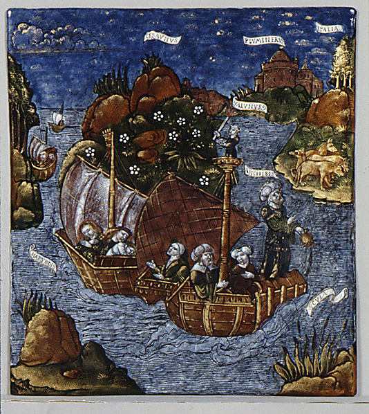 The Fleet of Aeneas Arrives in Sight of Italy