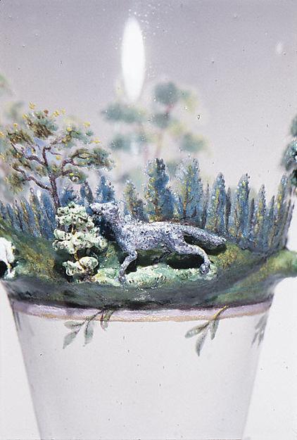 Shepherd and shepherdess in a landscape
