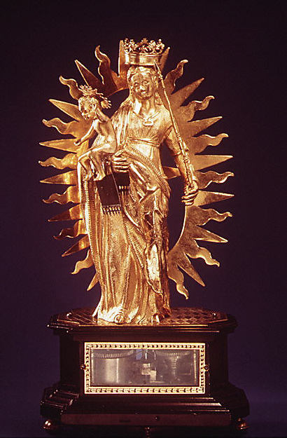 Automaton clock in the form of the Madonna and Child