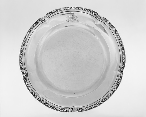 Plate from a table service owned by Chancellor Robert R. Livingston of New York