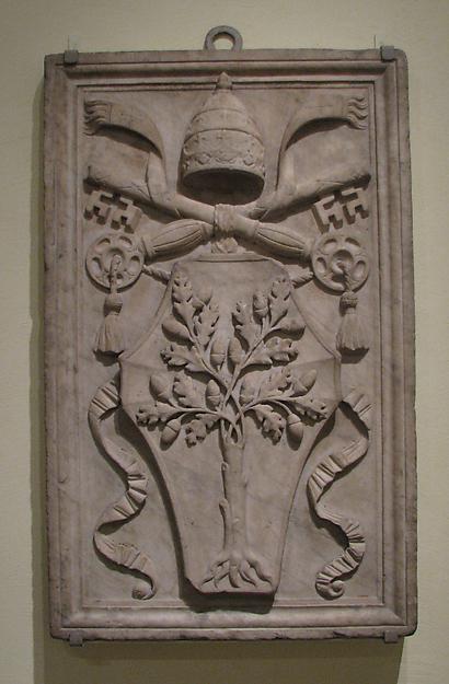 Arms of Pope Julius II (Giuliano della Rovere, reigned 1503–13)