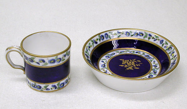 Miniature cup and saucer