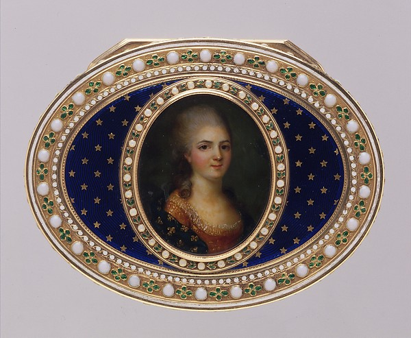 Snuffbox with portrait of a member of the French royal family, probably a daughter of Louis XV
