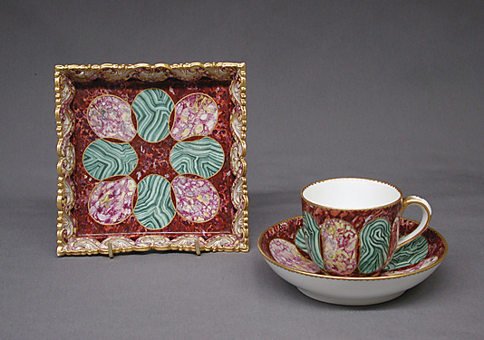 Small tray, cup and saucer (Déjeuner carré)