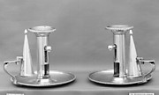 Pair of chamber candlesticks