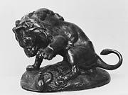 Lion About to Strike a Serpent (Lion la patte levée sur un serpent) or (Esquisse du lion des Tuileries)