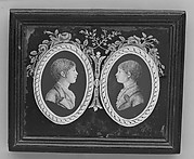 Panel with portraits of two boys