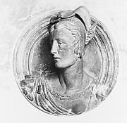 Bust of a lady in contemporary dress
