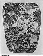 Panel for a hand screen (one of a pair)