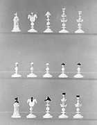 Chessmen (32) and box-board