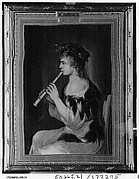 Girl Playing a Recorder