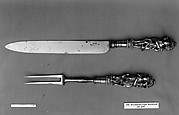 Carving knife and fork