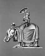 Oriental Man on Elephant