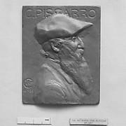 Portrait of Camille Pissarro (1830-1903), French Impressionist painter.