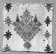 Bed curtain, fragment from a border