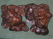 Group of cherub heads