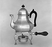 Teapot with lamp and lampstand