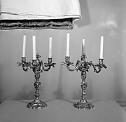 Pair of three-light candelabra