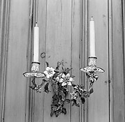 Pair of two-light wall brackets