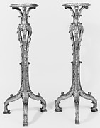 Pair of tripod candlestands (torchères)