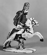 Equestrian figure of a hussar officer