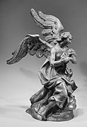 Kneeling angel (one of a pair)