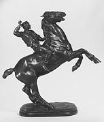 Boy and Rearing Stallion