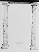 Column with base (one of a pair)