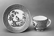 Cup and saucer (part of a service)