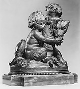 Infant and satyr child with a panther