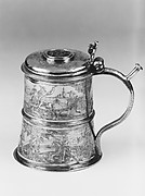 Tankard (Fixier-Krug) with hinged cover