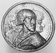 Emperor Charles V, Sultan Suleyman II, and an angel