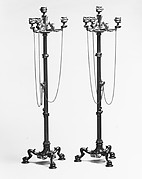 Four-light candelabra (one of a pair)