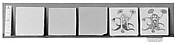 Set of five tiles