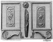 Pair of panel ornaments