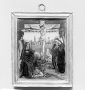 Crucifixion with three Marys