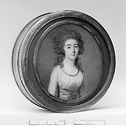 Box with portrait of a woman