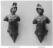 Pair of terminal statuettes