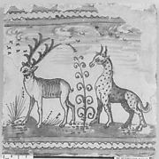 Tile for a frieze