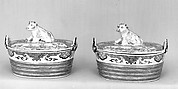 Pair of butter dishes