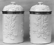 Pair of jars with covers