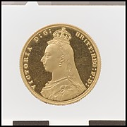"Queen Victoria ""Jubilee Head"" proof sovereign"