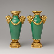 Pair of mounted vases (vase à monter)