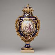 Vase (Vase à panneaux or à perles)