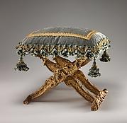 Folding stool (pliant) (one of a pair)