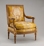 Armchair from Louis XVI's Salon des Jeux at Saint Cloud