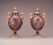 Vase with cover (vase des âges) (one of a pair)