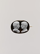 Confronted busts of the Emperor Hadrian (Publius Aelius Hadrianus, 76-138) and his favorite, Antinous (d. 130)