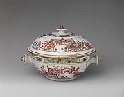 Tureen with phoenixes in landscape