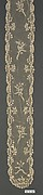 Pair of lappets (part of a garniture)